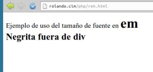 Resultado del ejemplo en el navegador